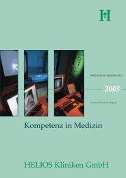 Kompetenz in Medizin 2003 HELIOS Kliniken GmbH
