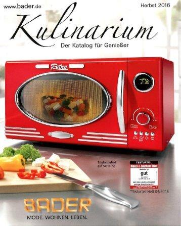 Каталог Bader Kulinarium осень 2016. Заказ товаров на www.catalogi.ru или по тел. +74955404949
