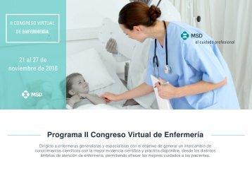 Programa II Congreso Virtual de Enfermería