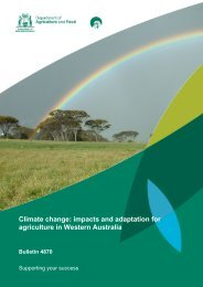 Climate change impacts and adaptation for agriculture in Western Australia