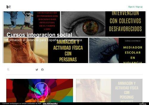 Cursos integracion social