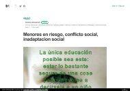 Menores en riesgo, conflicto social, inadaptacion social
