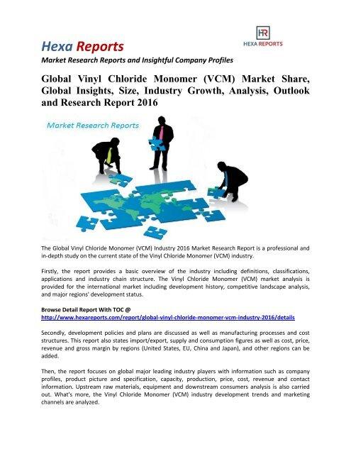 Global Vinyl Chloride Monomer (VCM) Market Share, Industry Growth
