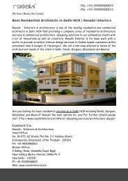 Best Residential Architects in Delhi NCR   Resaiki Interiors