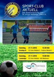 Sport Club Aktuell - Ausgabe 37 - 27.11.2016