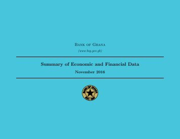 Summary of Economic and Financial Data