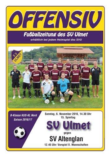 Offensiv: 15. Spieltag: SV Ulmet gegen SV Altenglan