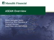 ASEAN Overview - Manulife Financial