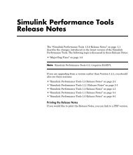 Simulink Performance Tools Release Notes