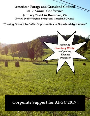 Corporate Support for AFGC 2017!