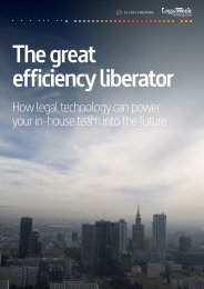 The great efficiency liberator