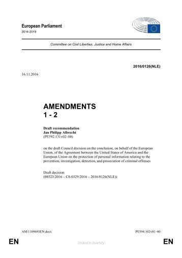 AMENDMENTS 1 - 2 EN EN