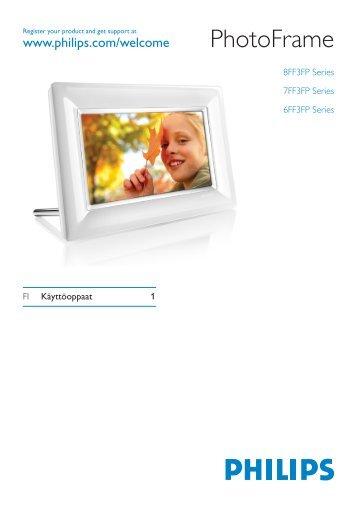 Philips Cadre Photo - Mode d'emploi - FIN