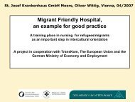 Migrant Friendly Hospital A training place in nursing for refugees ...