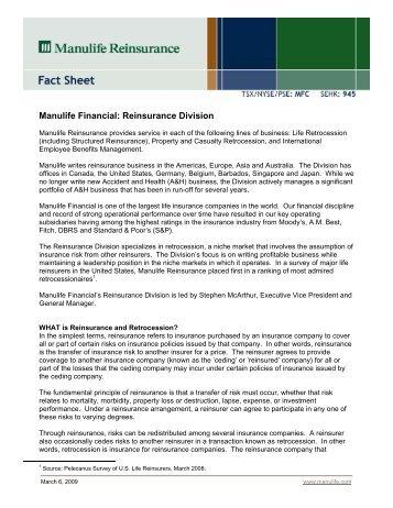 Manulife Financial: Reinsurance Division