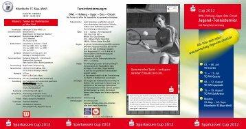 Jugend-Tennisturnier - beim Tennis-Club TC Rot-Weiß Salzkotten