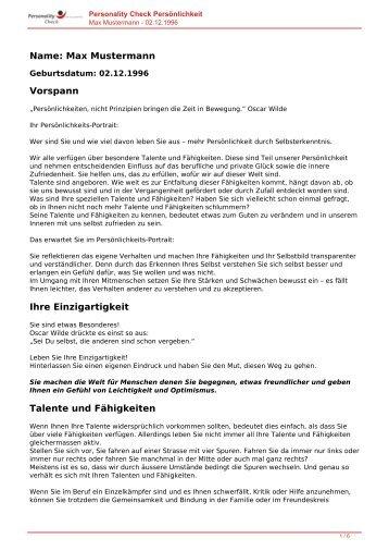KOSTENLOSE Persönlichkeitsanalyse für Sie-02.12.1996