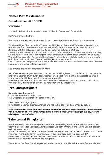 KOSTENLOSE Persönlichkeitsanalyse für Sie-02.10.1997