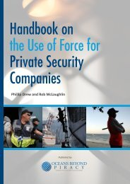 Handbook on the Use of Force for Private Security Companies