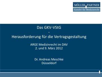 Skript Rechtsanwalt Dr. Andreas Meschke