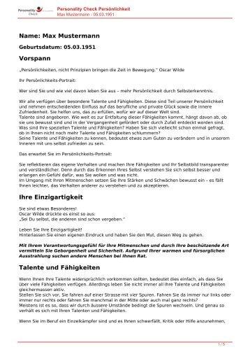 KOSTENLOSE Persönlichkeitsanalyse für Sie-05.03.1951