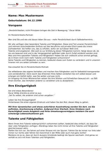 KOSTENLOSE Persönlichkeitsanalyse für Sie-04.12.1990