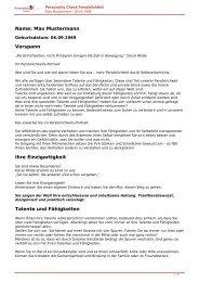 KOSTENLOSE Persönlichkeitsanalyse für Sie-06.09.1969