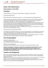 KOSTENLOSE Persönlichkeitsanalyse für Sie-15.06.1985