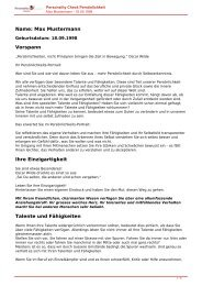KOSTENLOSE Persönlichkeitsanalyse für Sie-18.09.1998