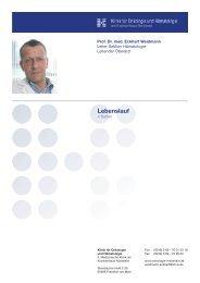 Lebenslauf - Klinik fuer Onkologie und Haematologie am ...
