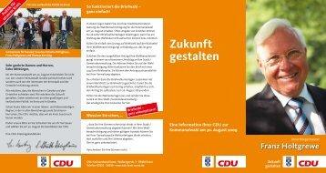Zukunft gestalten - CDU Kreisverband Soest