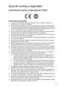 Sony VPCF23M1E - VPCF23M1E Documenti garanzia Spagnolo - Page 5