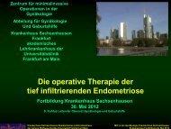 Die operative Therapie der tief infiltrierenden Endometriose