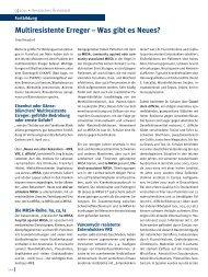 Multiresistente Erreger – Was gibt es Neues? - MRE-Rhein-Main