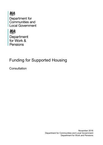 Funding for Supported Housing