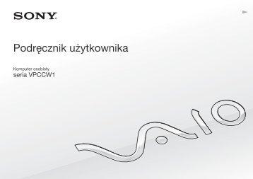 Sony VPCCW1S1E - VPCCW1S1E Istruzioni per l'uso Polacco