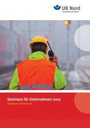 Seminare für Unternehmen 2012 - Unfallkasse Nord