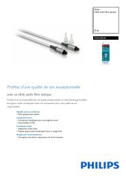 Philips Câble audio fibre optique - Fiche Produit - FRA