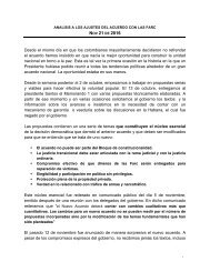 Análisis de los ajustes al acuerdo con las FARC