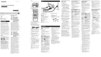 Sony CMT-S30iP - CMT-S30IP Istruzioni per l'uso Albanese