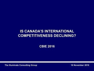 COMPETITIVENESS DECLINING?