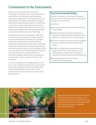 Commitment to the Environment - Manulife Financial