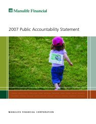 2007 Public Accountability Statement - Manulife Financial