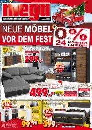 Mega Möbel in Schwandorf und Weiden - neue Möbel noch vor dem Fest
