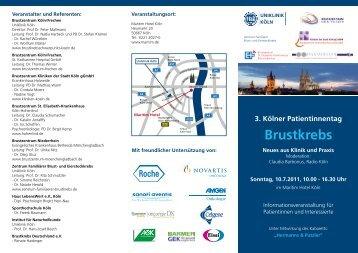 3. Kölner Patientinnentag - St. Katharinen-Hospital GmbH
