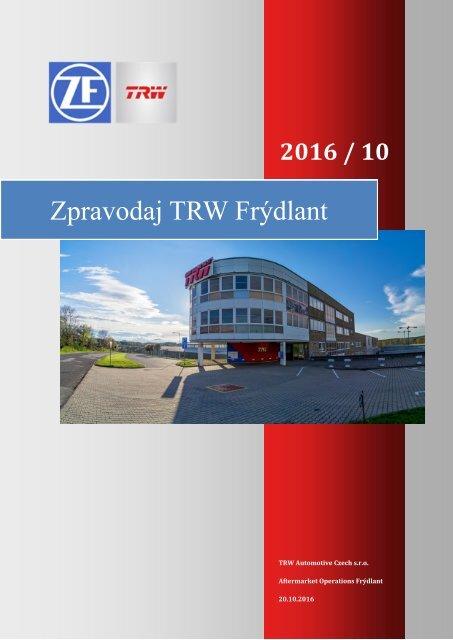 Zpravodaj TRW Frýdlant 10/2016