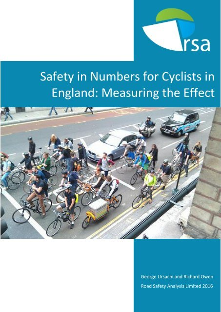 Safety in Numbers for Cyclists in England Measuring the Effect