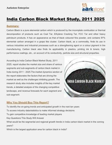 India Carbon Black Market Study 2011 2025