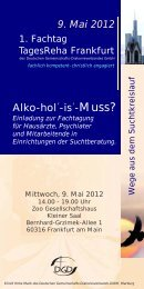 9. Mai 2012 Alko-hol´-is´-Muss? - Klinik Hohe Mark