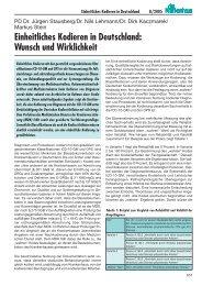 Einheitliches Kodieren in Deutschland: Wunsch und ... - Kohlhammer